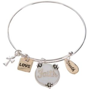 Jewelry - Christian Faith ♥️ Love Expandable Wire Bracelet